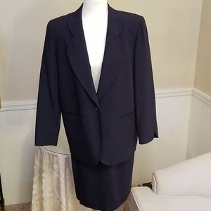 Christian Dior Navy Blue Skirt Suit size 6